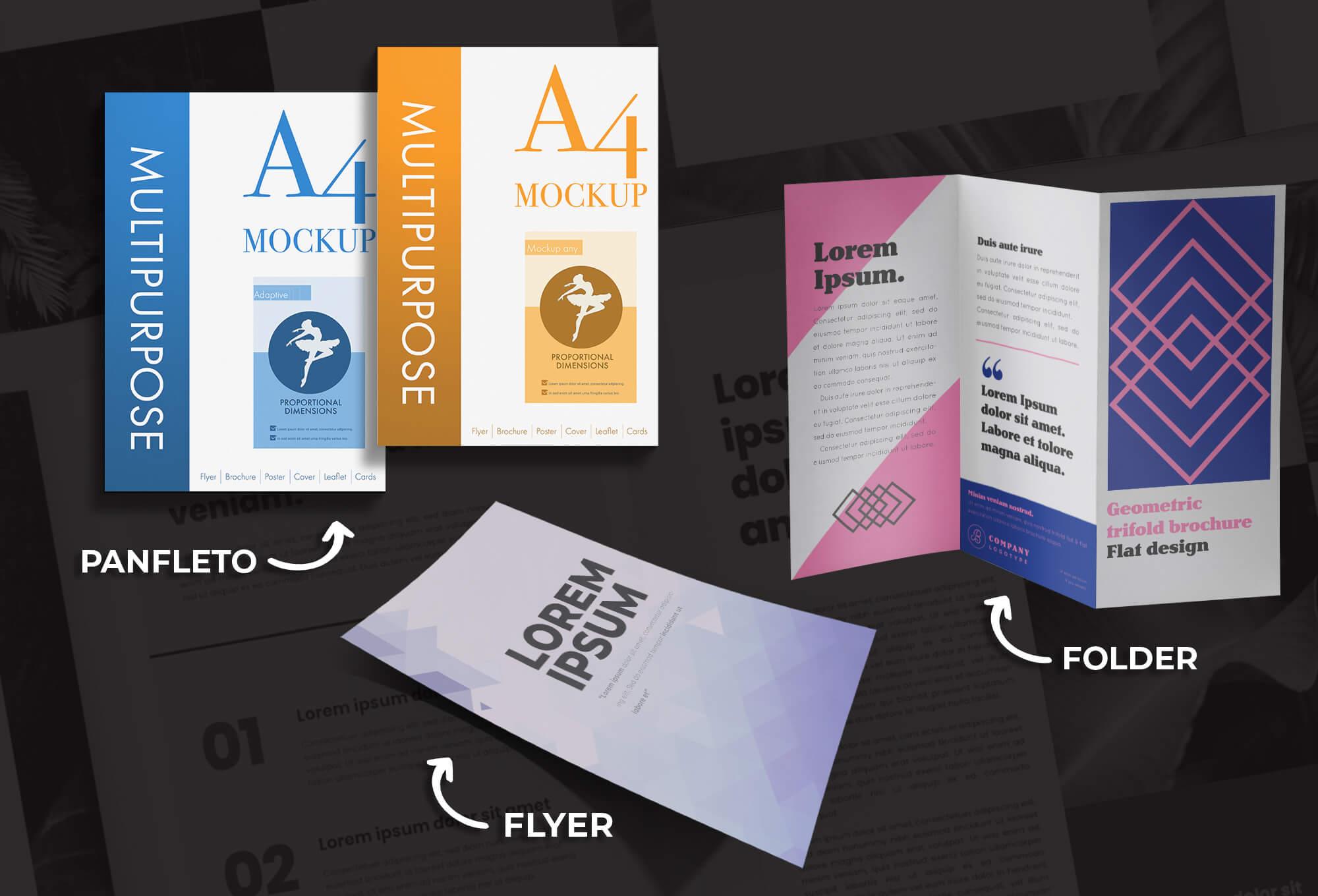 Diferença entre Flyer, Folder e Panfleto