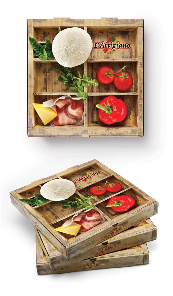 Embalagem rústica e fazendo alusão a ingredientes fresquinhos.