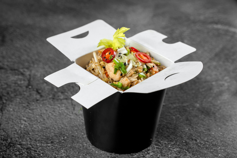 Embalagem Antivazamento com comida